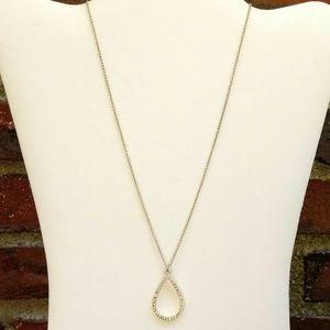 Delicate faux diamond teardrop necklace